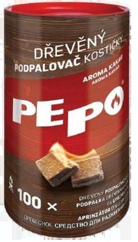 PE-PO dřevěný podpalovač kostičky